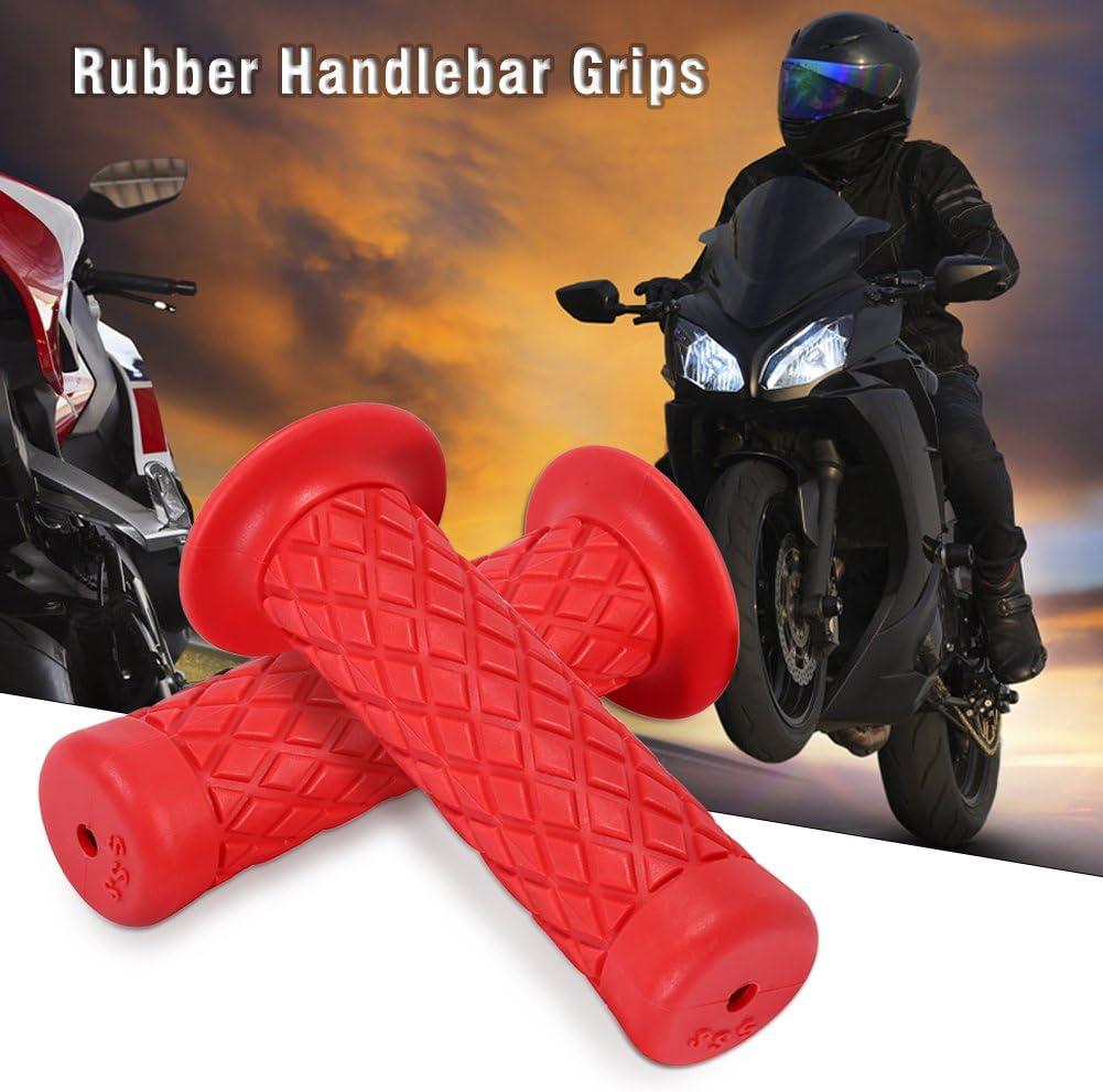 Black Universal Motorcycle Handlebar Grips Antiskid Bar End Rubber Gel Handlebars for Motor 2 pcs//Pair Rubber Motorcycle Hand Grips 7//8 22mm Rhombic Grids Style Dirt Bike