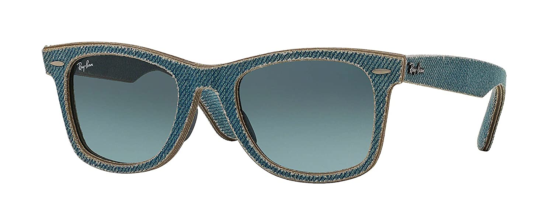b6e1be8239c Amazon.com  Ray-Ban Unisex RB2140F 11644M Original Wayfarer Sunglasses  Denim Blue Gradient 52mm  Clothing
