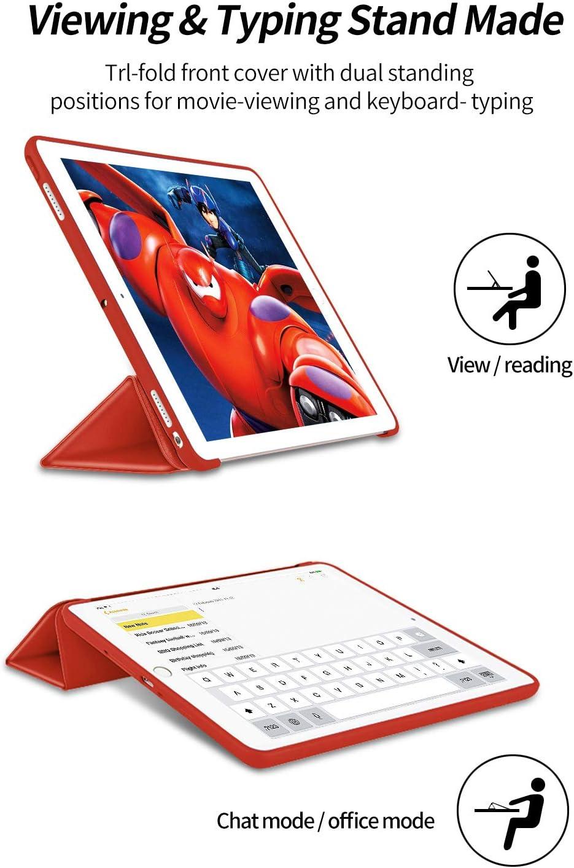 L/ég/ère Smart Shell R/ésistant avec Veille//R/éveil Automatique Rose Housse de Protection Antichoc /Étui Arri/ère Souple et Transparent en TPU Pro 10,5 Pouces 2017 VAGHVEO Coque pour iPad Air 3 2019
