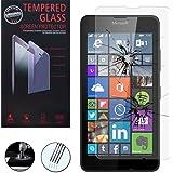 1 Vitre Film Verre Trempé de protection d'écran pour Microsoft Nokia Lumia 640 LTE/ 640 LTE Dual SIM/ 640 Dual SIM - TRANSPARENT