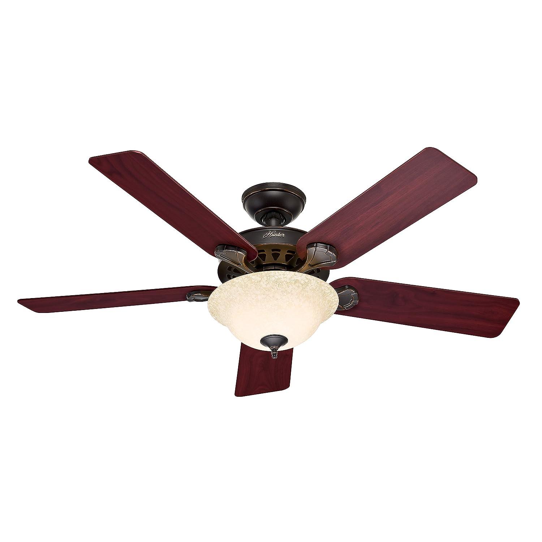 """Hunter Fan 52"""" Traditional Ceiling Fan yx Bengal Bronze Finish"""