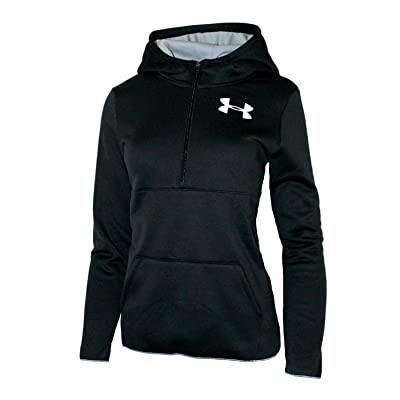 Under Armour Big Girls Youth Athletic 1/2 Zip Storm Hoodie Fleece Lined UA Pullover