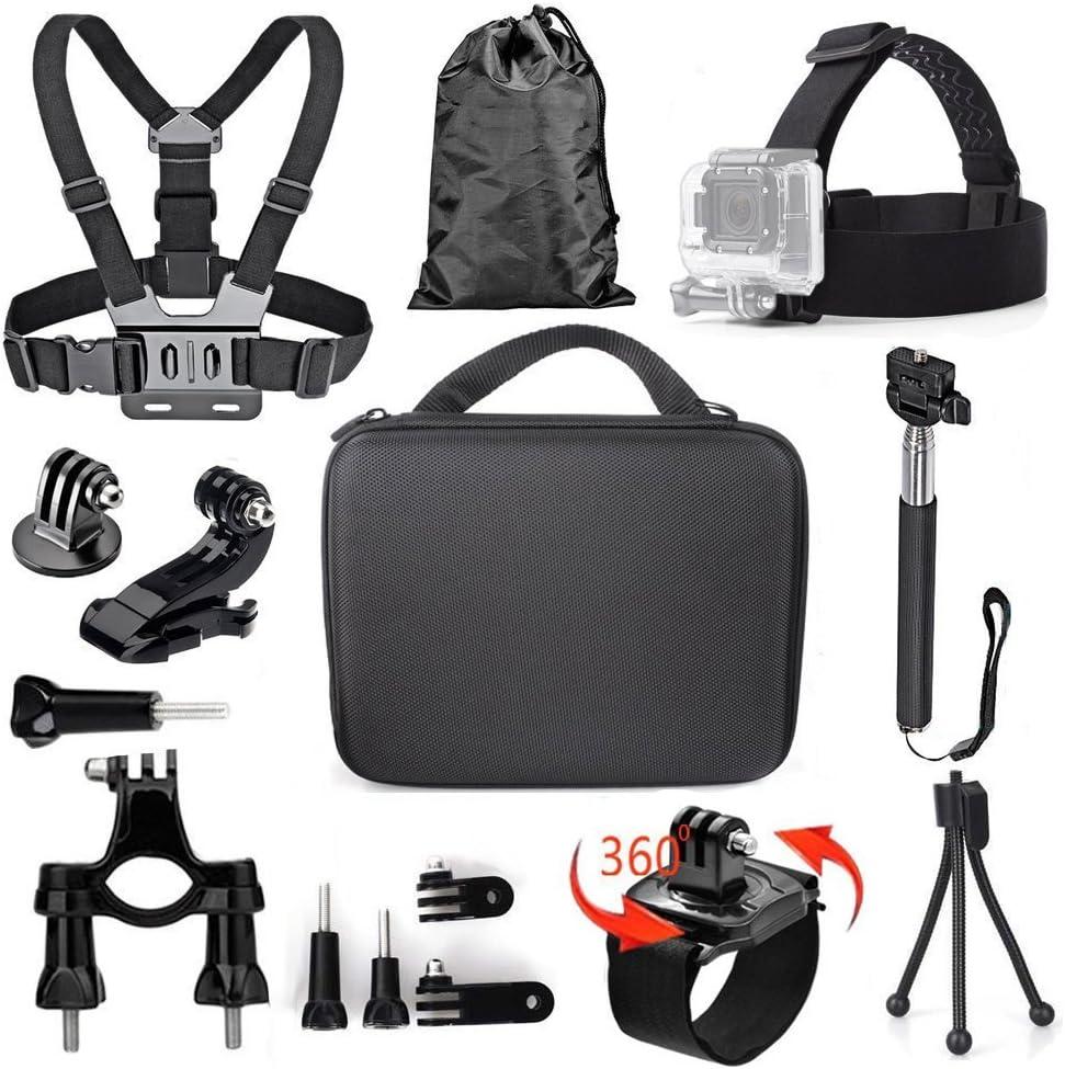 TEKCAM 11-in-1 Action Camera Accessories Bundle Kits Compatible with Gopro Hero 7 6 5 AKASO EK7000 4K Crosstour Campark APEMAN Dragon Touch VanTop Sports Camera