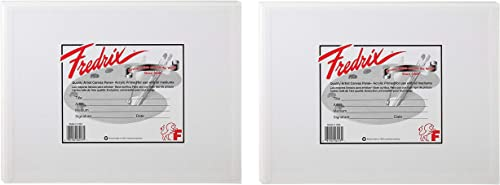 Fredrix 3209 Canvas Panels, 9 by 12-Inch, 3-Pack wo ack