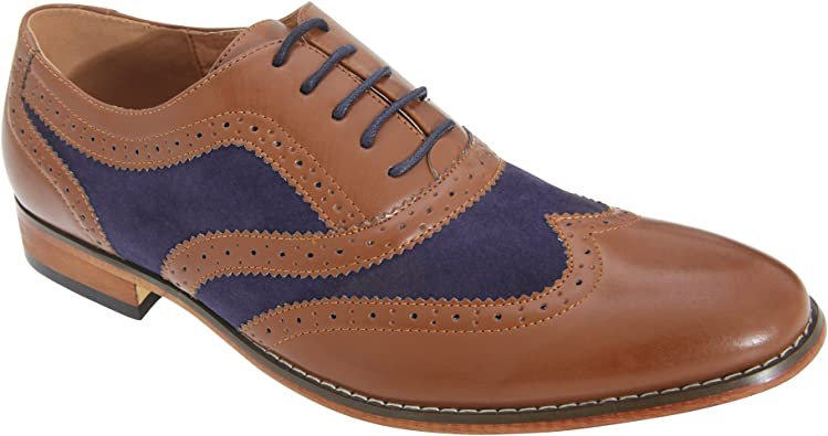 Goor Zapatos Brogue Oxford 5 Ojales Hombre Caballero