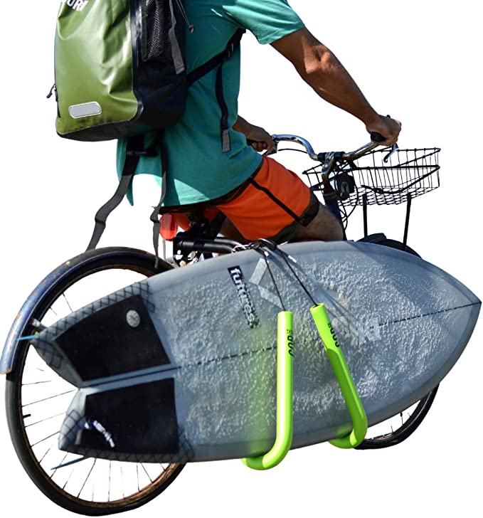 New Adjustable Bike Surfboard Rack Bicycle Skimboard Carrier Surfing Sea Sport