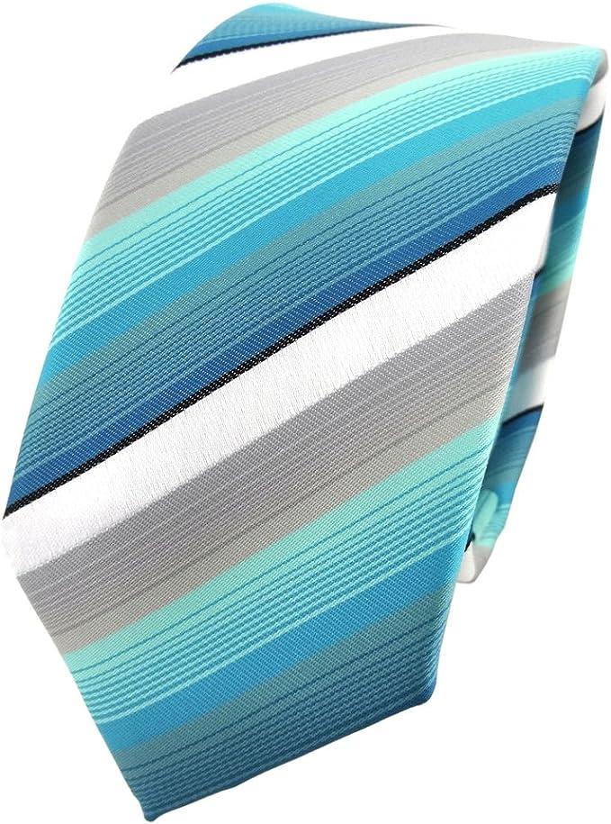 TigerTie - corbata estrecha - turquesa menta gris blanco negro ...