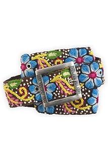 Tey Art Sun Burst Hand Embroidered Fair Trade Wool Belt
