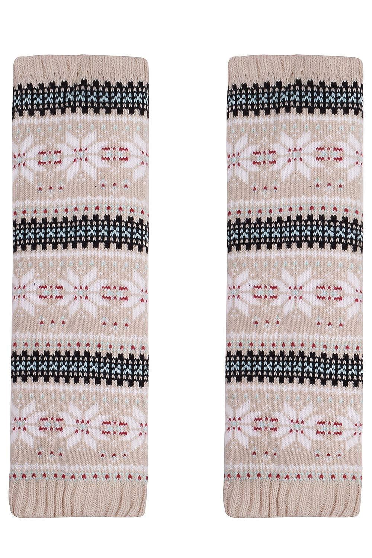 Amorismo Womens Winter Leg Warmers Knit Fleece Liner