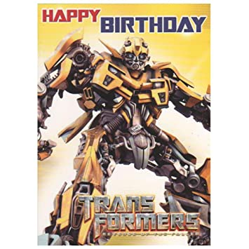 Transformers Bumble Bee Happy Birthday Card Amazoncouk Toys Games