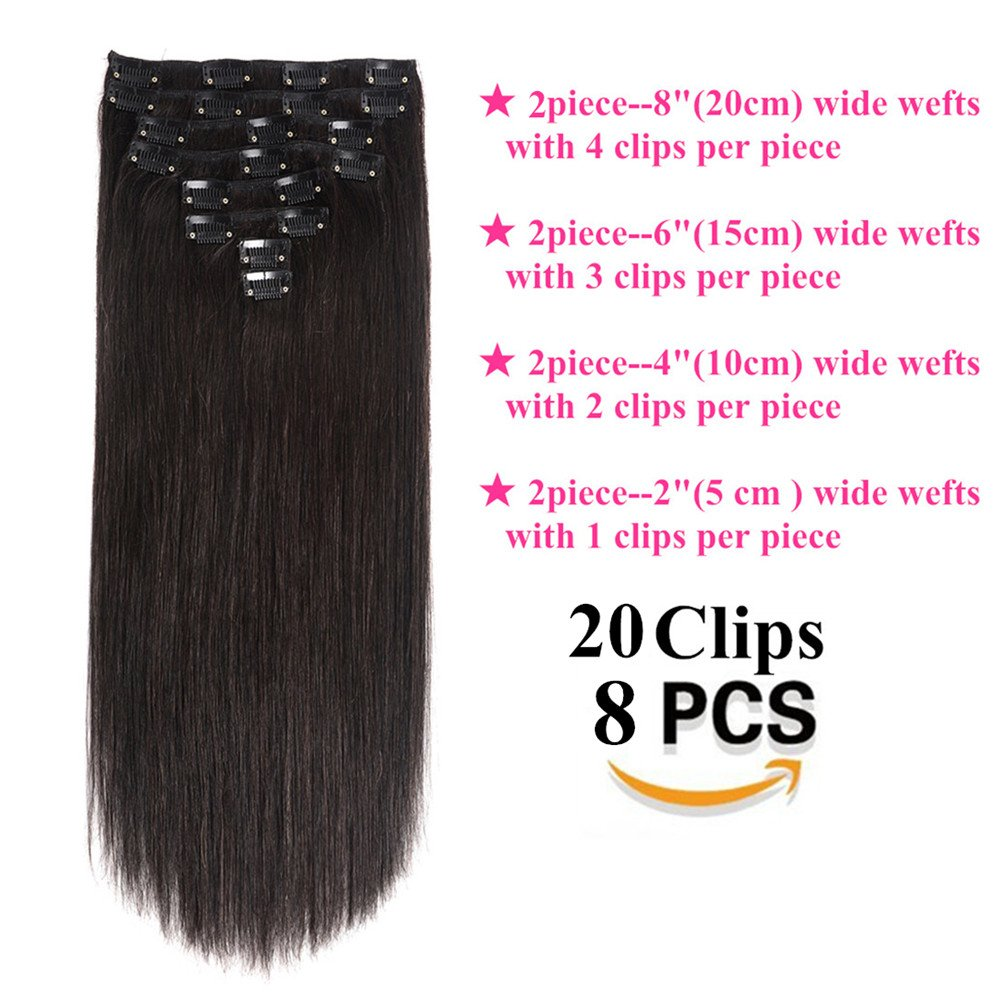 Amazon Lovbite Hair Clip In Human Hair Extensions Double Weft