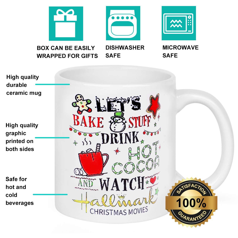 Amazon.com: XOXOOR Hallmark Christmas Movie Mug - Let\'s Bake Stuff ...