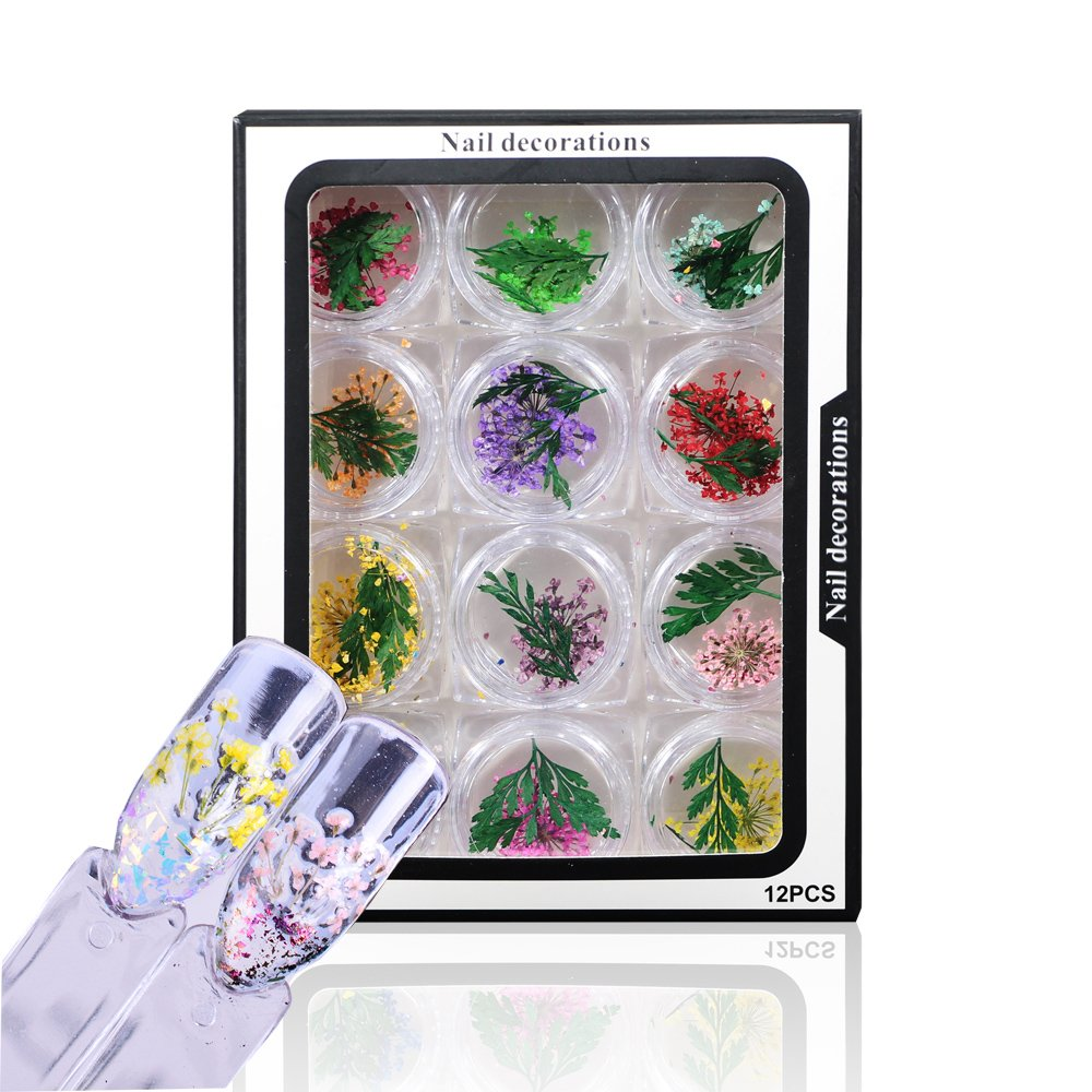 12 Colors Fashion Style Natural Dried Flower Nail Decoration For 3D Nail Art Acrylic UV Gel Tips-2#