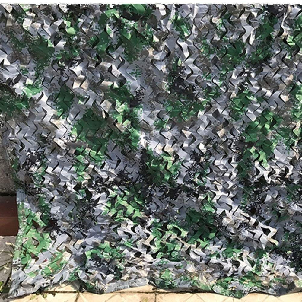 Military Sunshade Net Household Waterproof Insulation Camouflage Net Outdoor Jungle Camouflage Net Botanical Garden Flower Predection Net Decoration Net Digital Camouflage 22 Size (Size   6X8M)