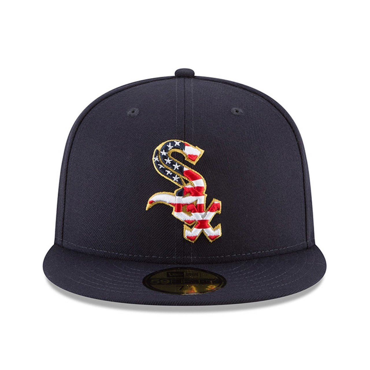 0de7dbffd7e1fa Amazon.com: New Era Chicago White Sox Navy 4TH of July Cap 59fifty 5950  Fitted MLB Limited Edition: Clothing