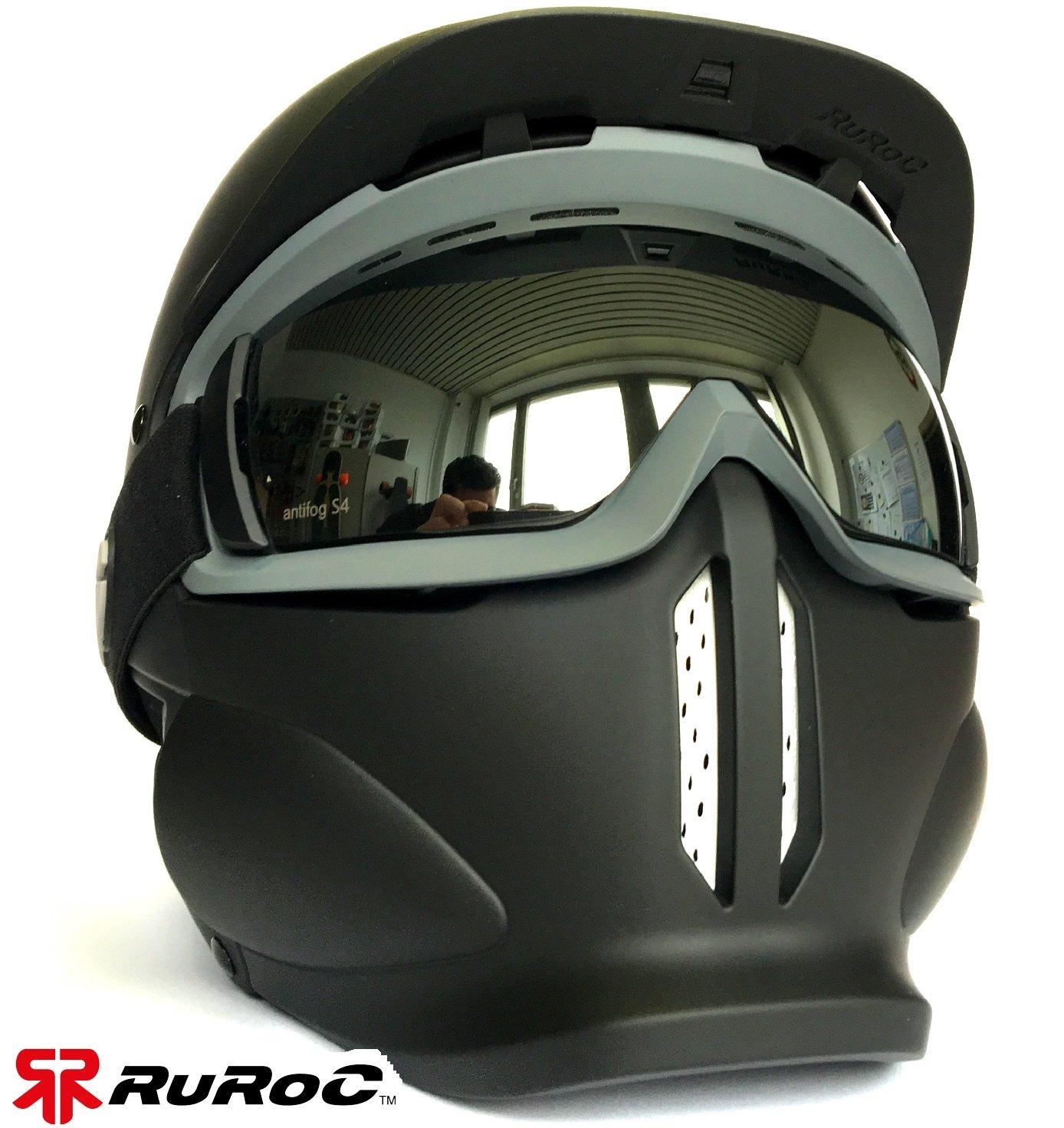 ruroc RG1 de X II - Casco de esquí y snowboard casco Shadow + magloc ...