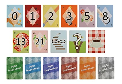 Agile Inspirations Planning Poker Cards for Estimation