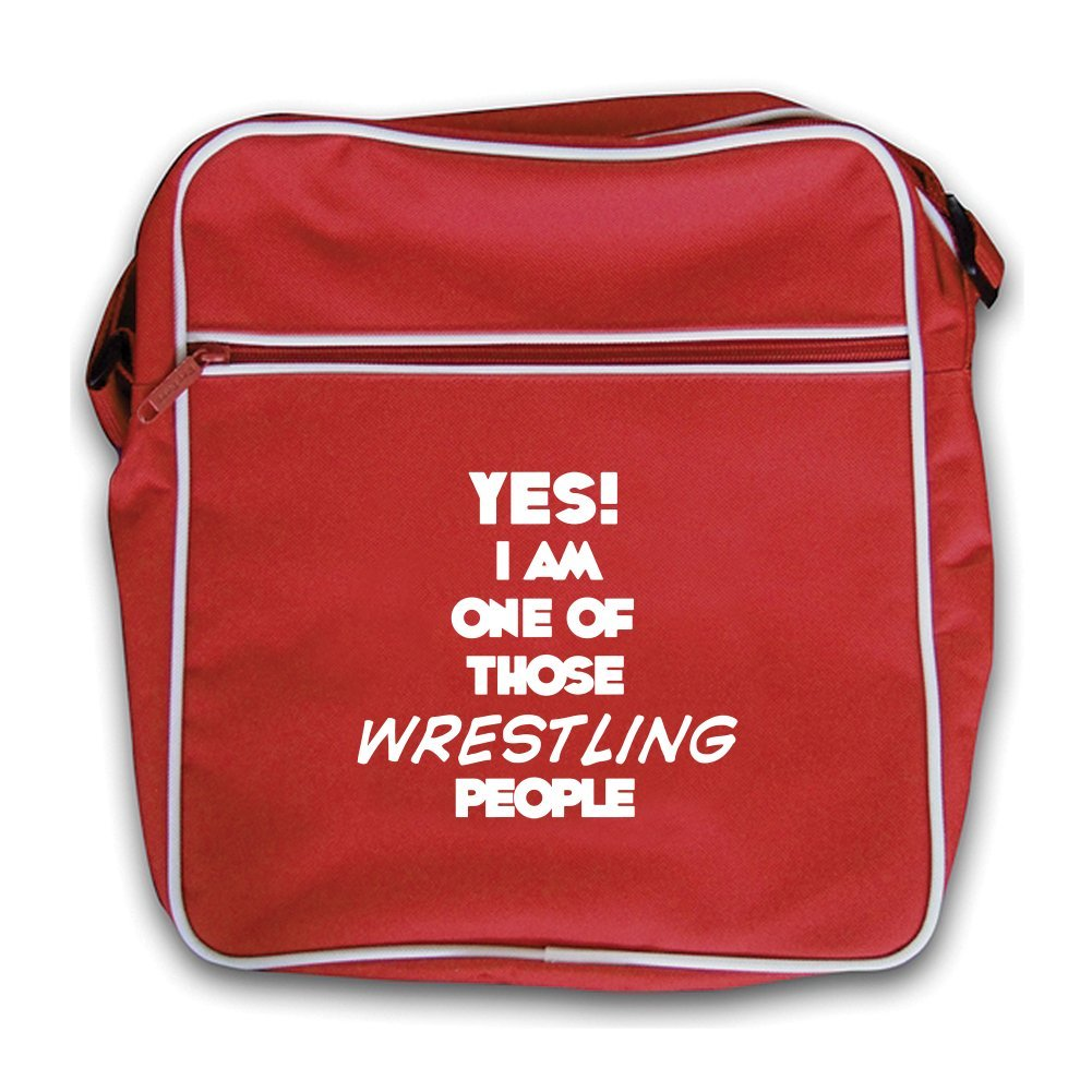 Yes! I Am One Of Those WRESTLING People - Retro Flight Bag - Red
