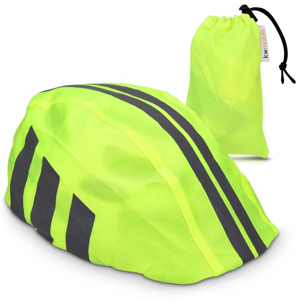 kwmobile Funda para Casco de Bicicleta - Protector para Casco de Bicicleta - Cubierta Resistente al Agua Unisex - Visibilidad en Rosa neón KW-Commerce 43675.08_m000579