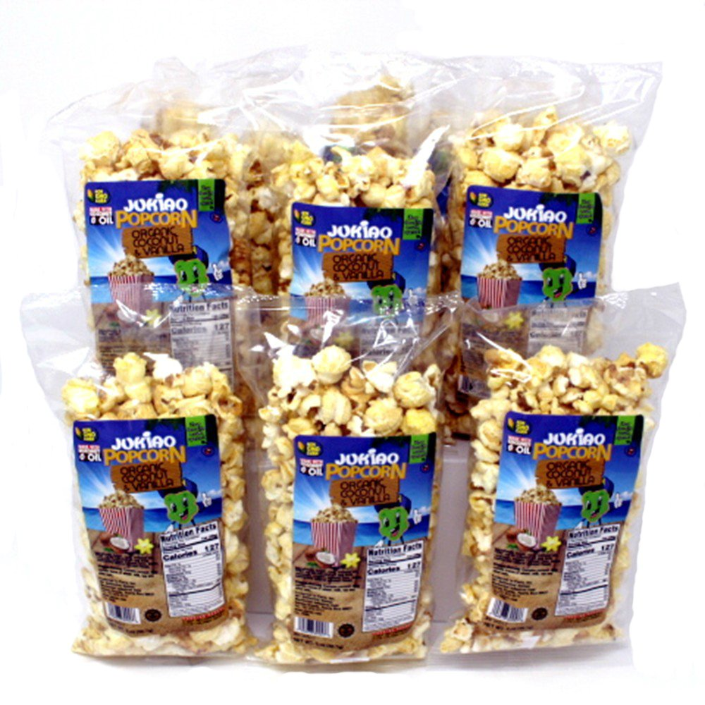 Caramel | Sweet and Salty | Crunchy Peanut | Organic Coconut | Candy | Popped Popcorn | Non GMO | Gluten Free | Gourmet Popcorn Snack Pack - 15 count (28 ounces total)