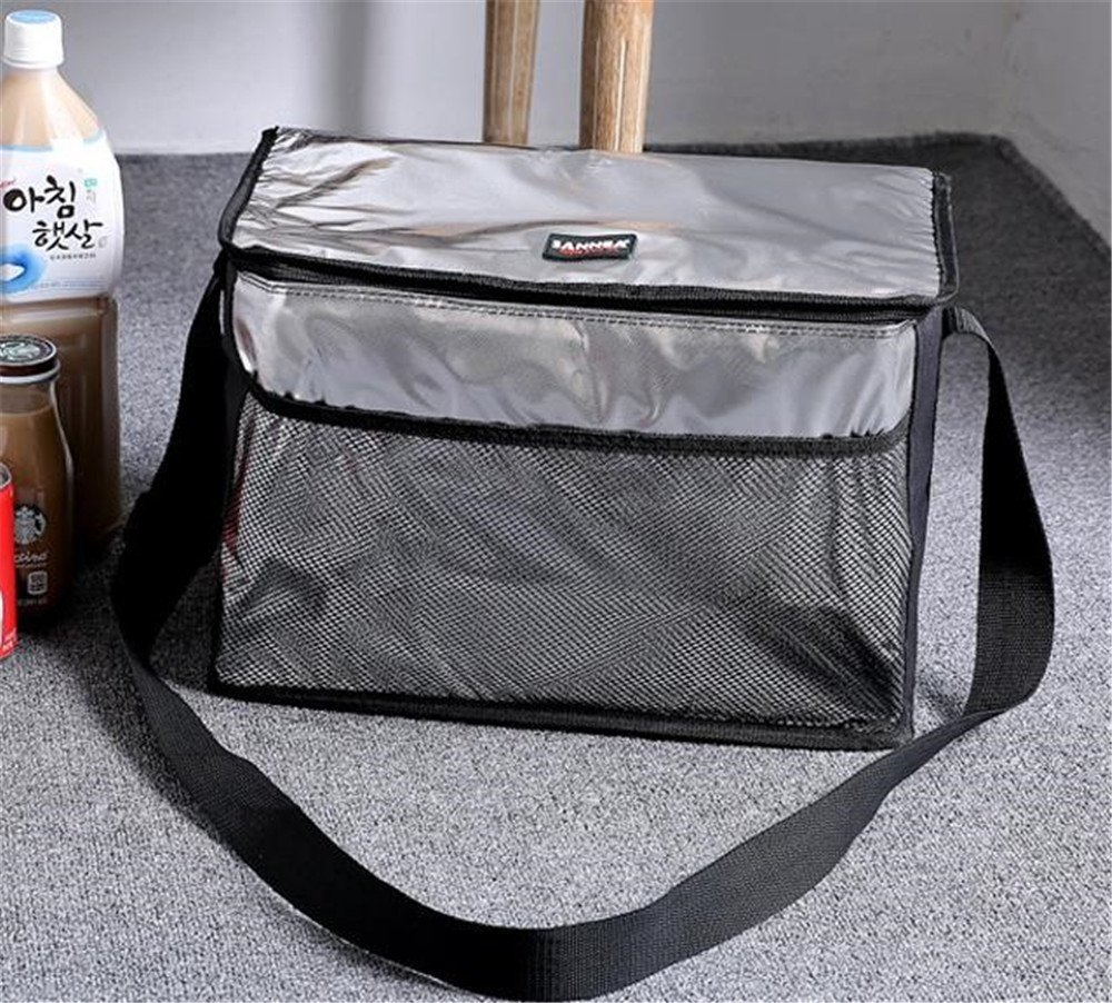 Melnne - SanNeng 5L- 8L- 18L Con aislamiento té rmico de hombro a prueba de agua del refrigerador del almuerzo de picnic Caja de almacenamiento de la bolsa de asas, Bolsillos de malla