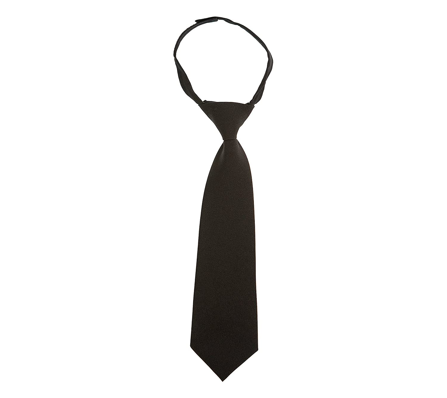 French Toast Adjustable Solid Color Tie Boys Black 4-7 One Size LT-F9011-4-7-Black