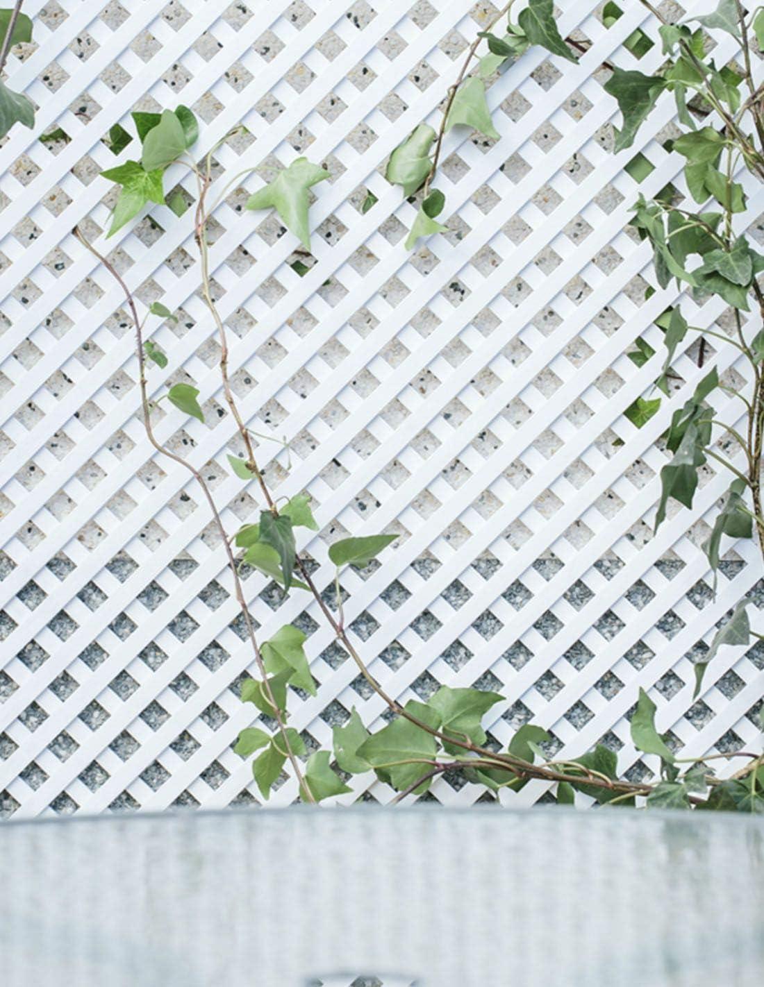 Jardin202 1 x 2 Metros - Celosía Fija de PVC - 18mm - Blanca ...