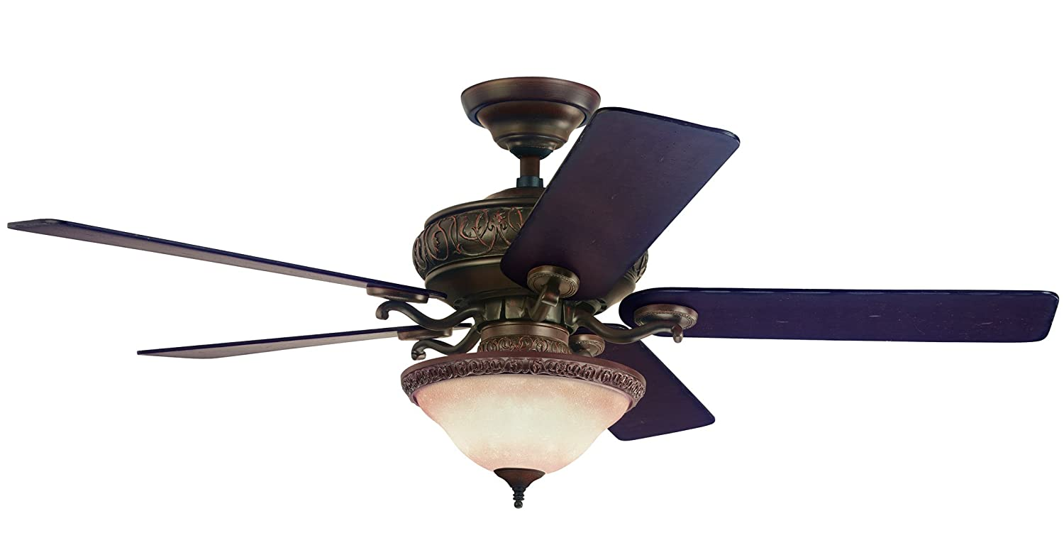 Ceiling fans with good lighting - 52 Vernazza 5 Reversible Blade Ceiling Fan Outdoor Ceiling Fan Amazon Com