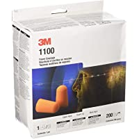 3M Foam Earplugs 1100, Uncorded (Pack Of 200 Pairs)
