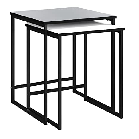 Ameriwood Home Stewart Nesting Tables, Gray and White