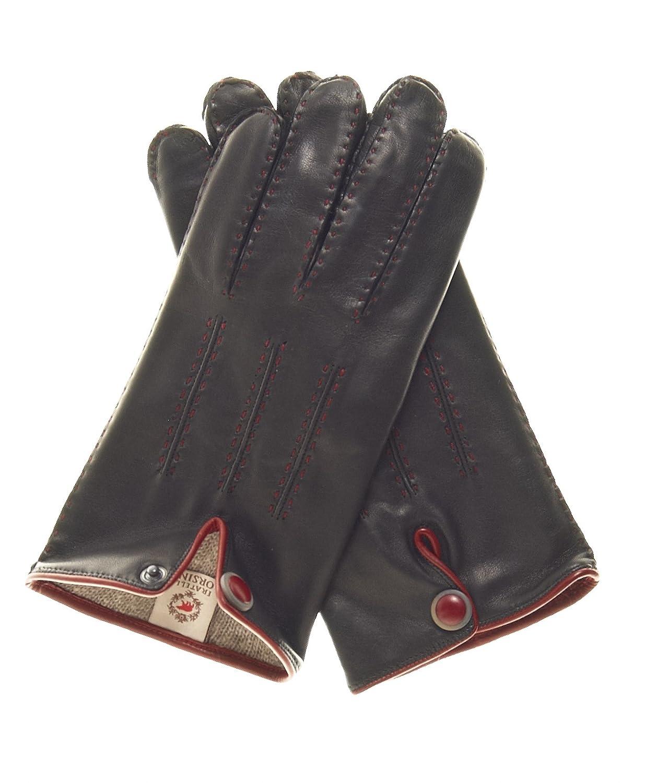 Fratelli Orsini Mens Italian Cashmere Lined Handsewn Dress Gloves