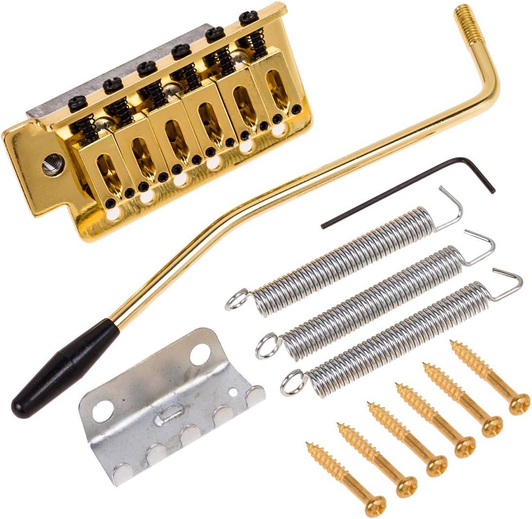 Juego de trémolo y otras partes de repuesto para guitarra Fender Stratocaster Strat, MI0609