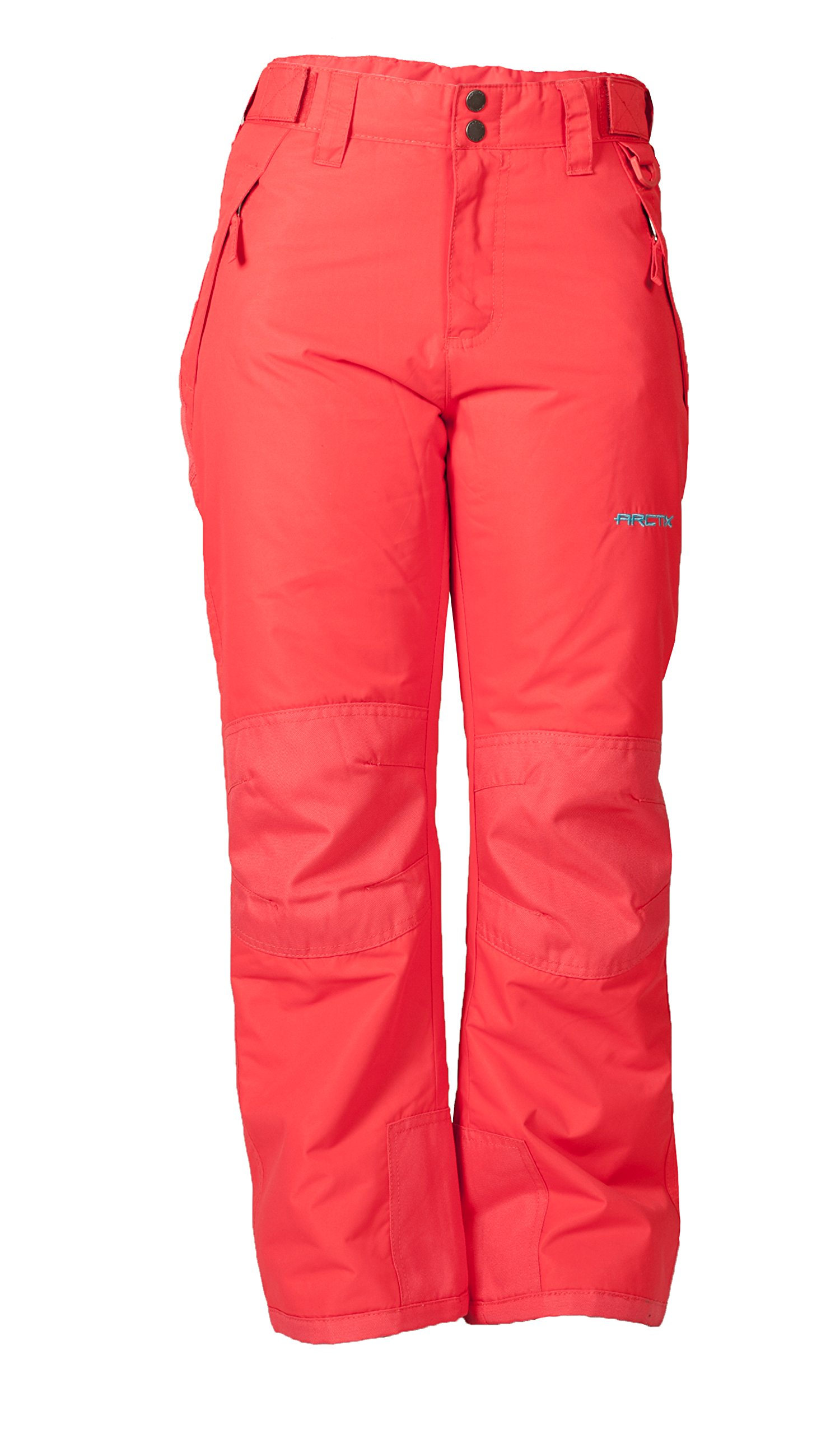 Arctix Youth Snow Pants with Reinforced Knees and Seat, Melon, X-Small