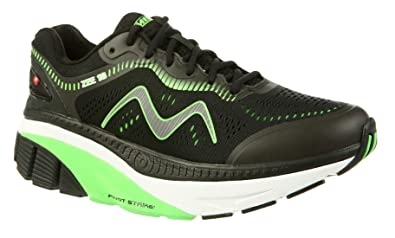 8129b6e9d88f MBT Shoes Men s Zee 18 Athletic Shoe  Black Green 7.5 Medium (D)
