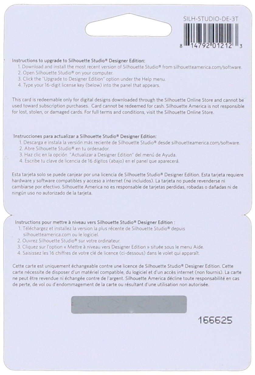 9070627f5c Amazon.com: Silhouette Studio Designer Edition Software Card for  Scrapbooking: Arts, Crafts & Sewing