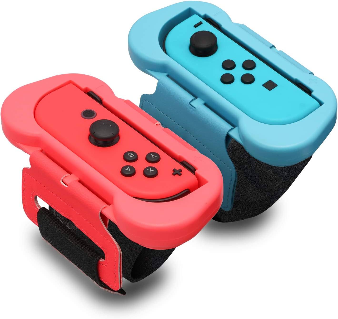 Wrist Band for Just Dance 2020 - Nintendo Switch Standard Edition - 2 Packs (Fit for 4.72-7.5 inches Wrist Circumference) - Blue and Red