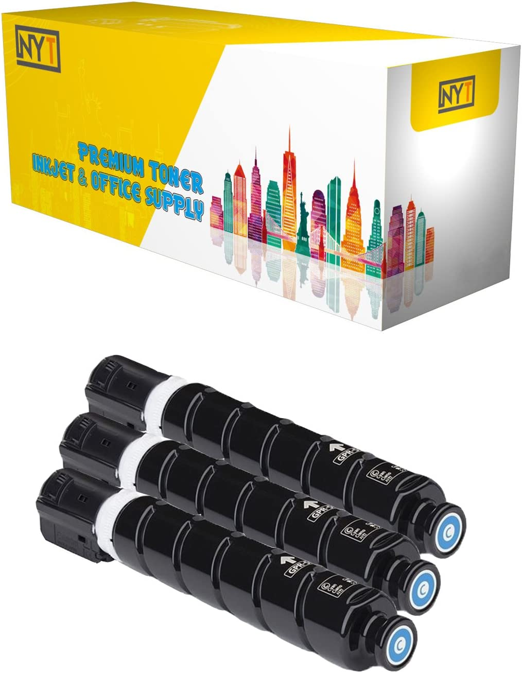 NYT Compatible High Yield Toner Cartridge Replacement for GPR51 C 8517B003AA for Canon imageRUNNER Advance C250iF,C350iF,C350P Cyan, 3-Pack