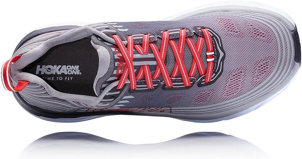 HOKA ONE ONE Mens Bondi 6 Running Shoe Alloy/Steel Gray