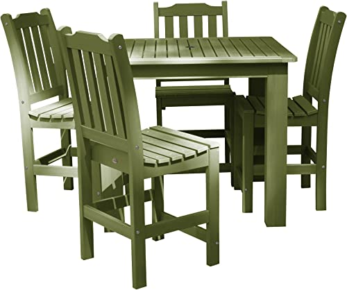 highwood AD-CNL44-SGE Lehigh 5-Piece Square Counter Height Dining Set, Dried Sage