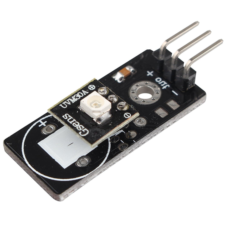 HALJIA UVM-30A UV Sensor Module Detector for Ultraviolet Ray Detection DC 3~5V for Arduino
