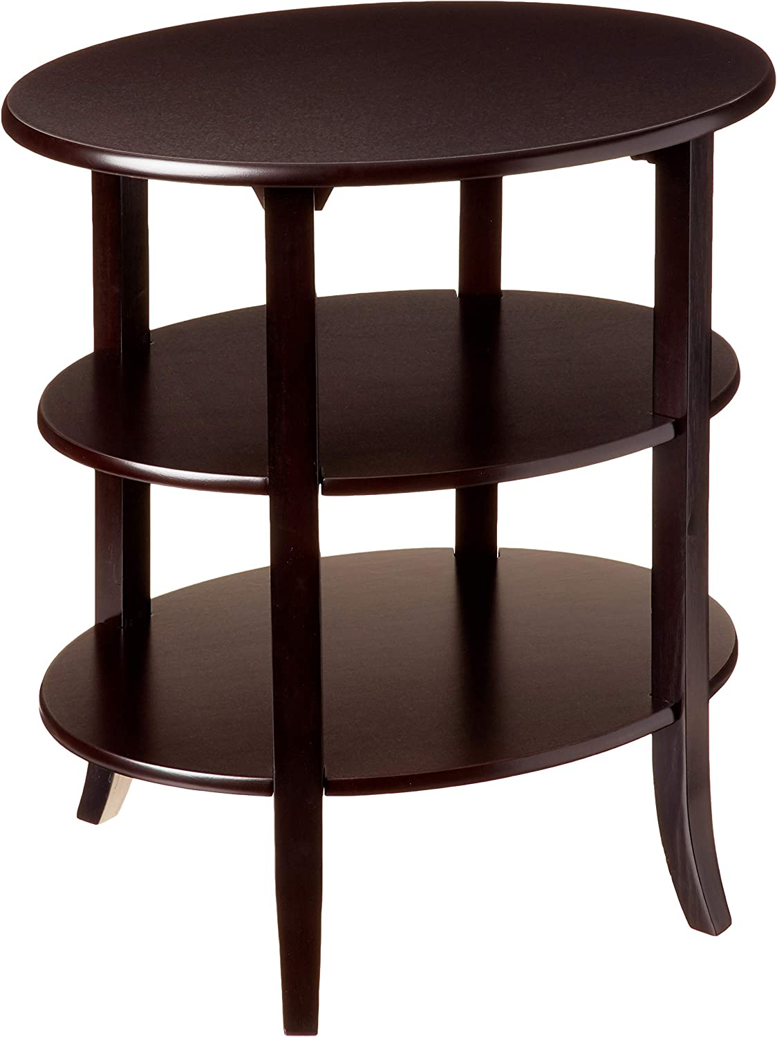 Frenchi Furniture 3-Tier Oval End Table