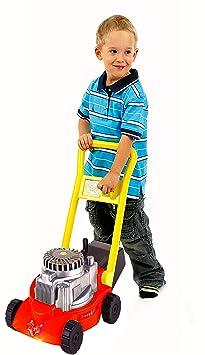 Kinder Rasenmäher 45 x 27 x 52 cm, TÜV geprüft, mit Fangkorb und Geräuschfunktion beim Mähen, Kunststoff, Izzy Sport