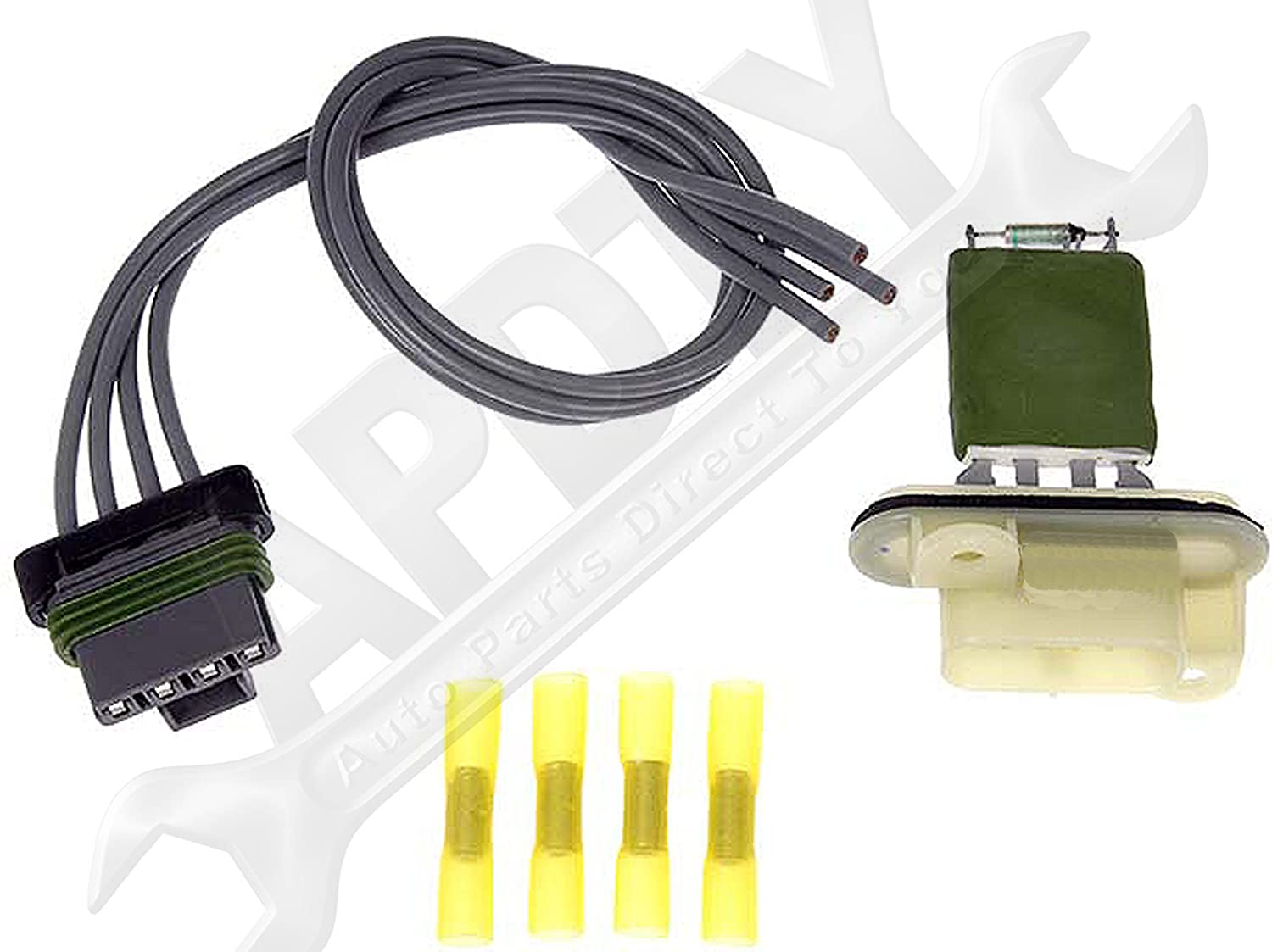 Amazon.com: APDTY 084545 Blower Motor Switch Resistor Kit w/ Wiring Harness  Pigtail Connector Fits 2004-2008 Chevrolet Colorado or GMC Canyon 2003-2006  SSR ...
