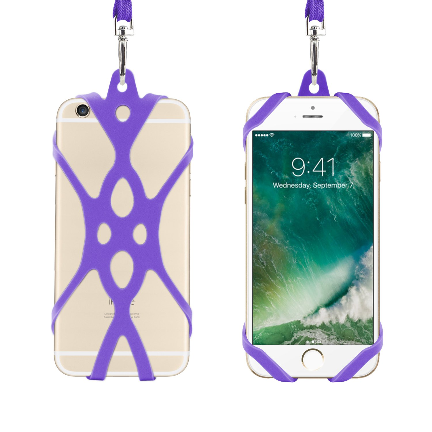 Amazon.com: Remeel Phone Lanyard Strap with Universal Silicone Case Holder for iPhone 7 iPhone 7plus iPhone 6 iPhone 6s and Even All Size Smartphone ...