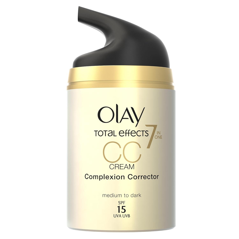 Olay Total Effects 7 en 1 CC Cream Anti-Edad Correctora de Tono Medio A Oscuro SPF 15-50 ml: Amazon.es: Amazon Pantry