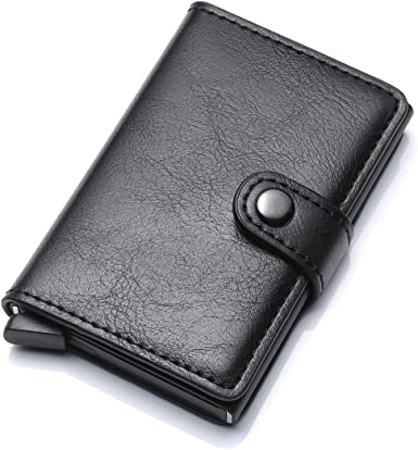 Money Notes Black Leather Credit Card Buisness Card Wallet 1164