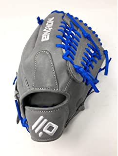 product image for Nokona AmericanKip 14U Gray with Royal Laces 11.25 Baseball Glove Mod Trap Web Right Hand Throw