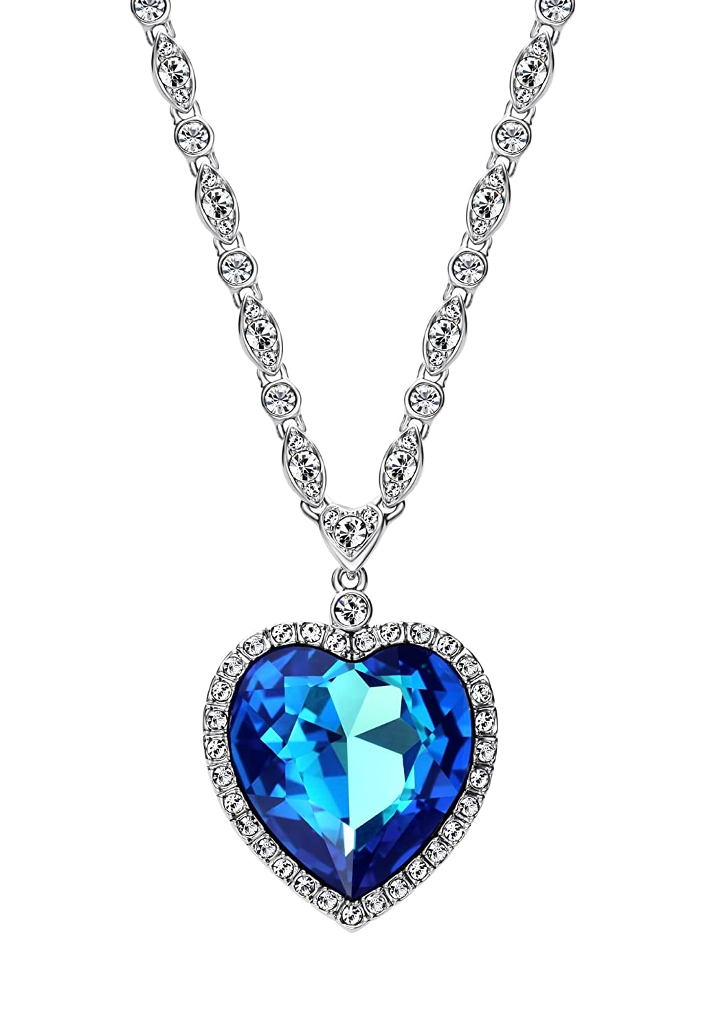 aqua styling product pendant blue stones necklace crystal wrapped
