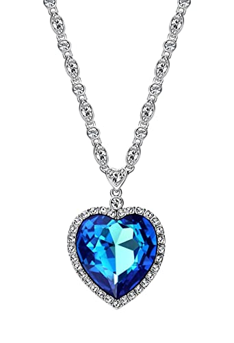heart necklace bhp swarovski ebay