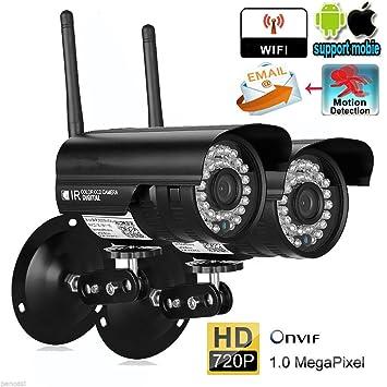 leshp 2 x 720p cámara para una casa Segura, Wireless IP cámara de vigilancia HD